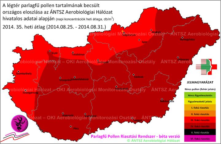 pollentérkép
